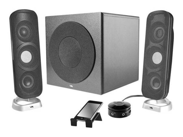 Cyber Acoustics CA-3908 Speaker sys - PC multimedia - 2.1-CH - wired